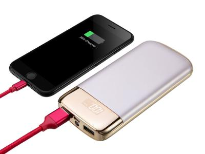 Powerbank 10000mah affichage LED miroir - Or