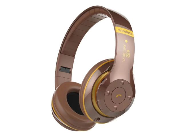 Casque audio stéréo Bluetooth Street V4.2 - Marron