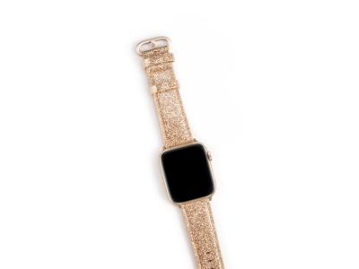 Bracelet en cuir synthétique pour Apple Watch 40mm - Or