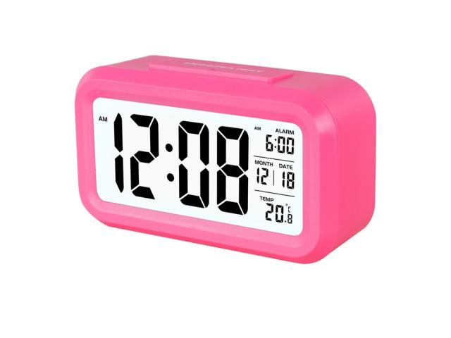 Horloge digitale alarme - Rose