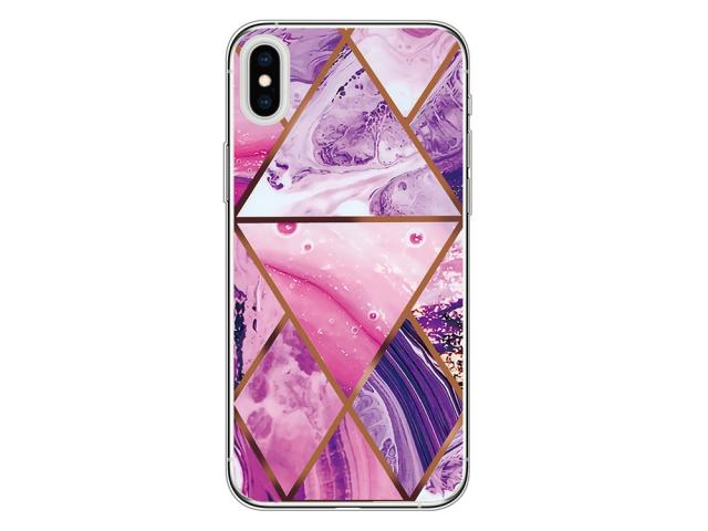 Coque TPU Texture pour iPhone X/XS - Rose