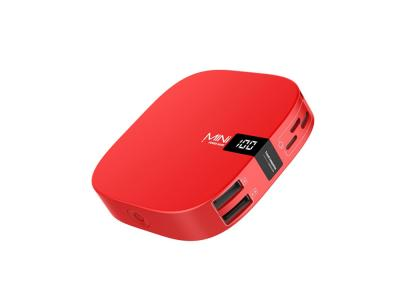 Powerbank Mini 10000mah affichage LED - Rouge