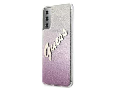 GUESS - Coque Glitter Gradient rose pour Samsung Galaxy S21+