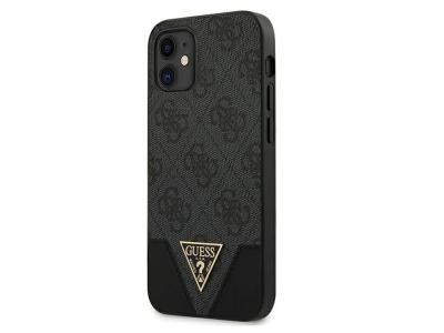 GUESS - Coque 4G Triangle grise pour iPhone 12 Mini