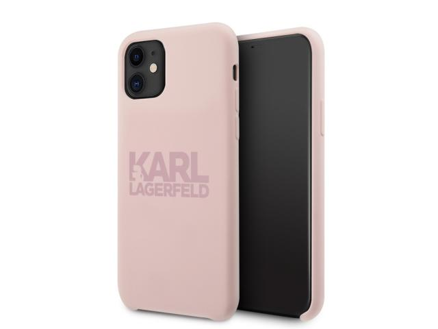 Coque Karl Lagerfeld Stack pour iPhone 11 - Rose