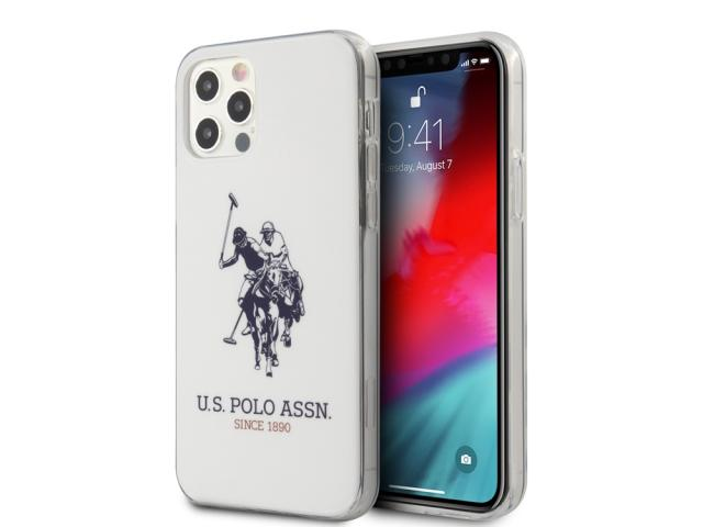 Coque U.S Polo ASSN. Big Double Horse pour iPhone 12 et iPhone 12 Pro - Blanc