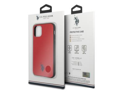 Coque U.S Polo ASSN. Embossed pour iPhone  11 Pro - Rouge