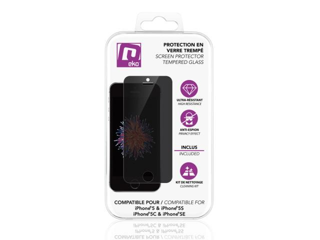 Protection en verre trempé pour iPhone 5, 5S, 5C & SE - Secret