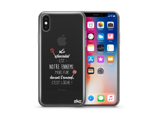 Coque de protection en TPU pour iPhone X & XS - Design692